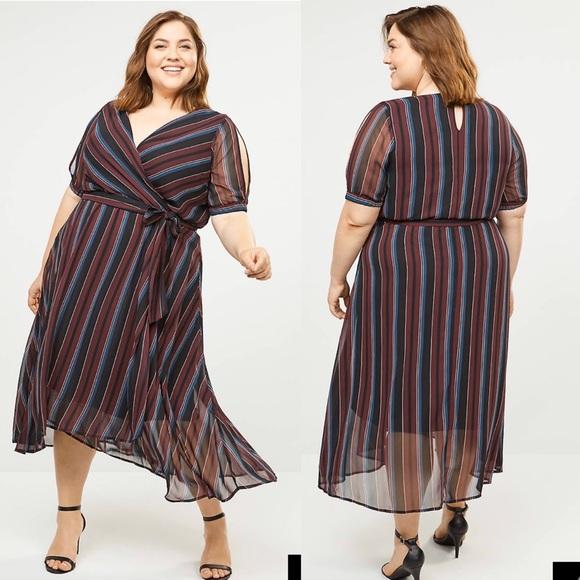 Lane Bryant Dresses & Skirts - LANE BRYANT• faux wrap midi dress